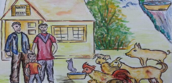 happy animals and families scene 9