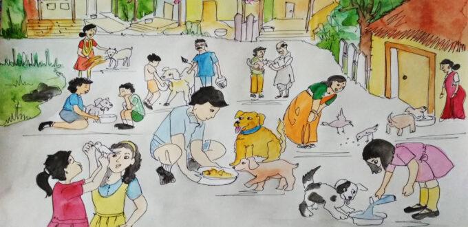 street animal caretaker scene10