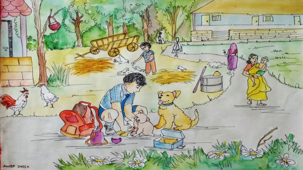 street animal caretaker scene2